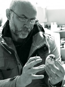 Tony Ladd at working on a Replica Egg